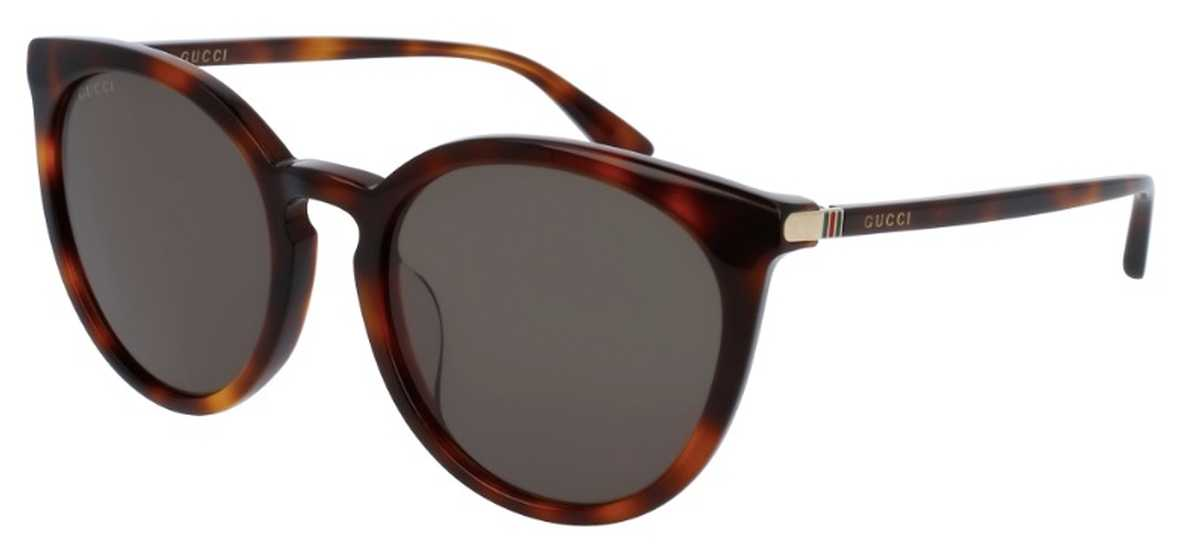 Gucci GG 0064SK Sunglasses Havana with Green Lenses USA - GOOFASH - Womens SUNGLASSES