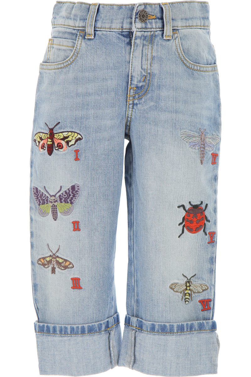 Gucci Kids Jeans for Girls On Sale in Outlet Light Denim Blue DK - GOOFASH - Womens JEANS