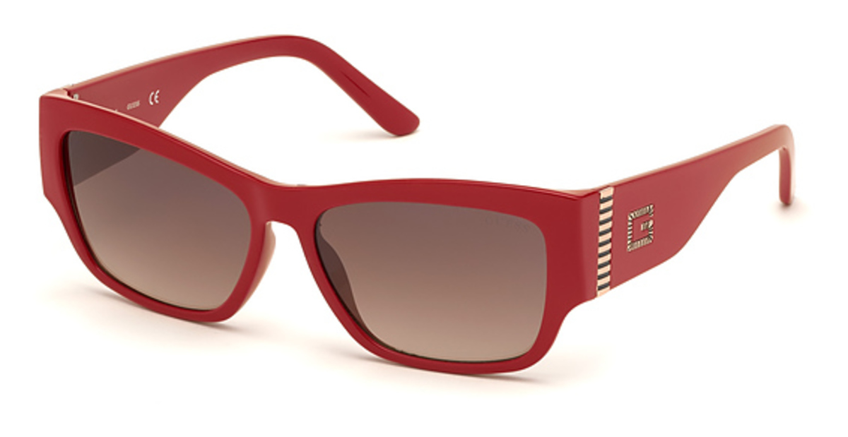Guess GU 7623 Sunglasses Shiny Red USA - GOOFASH - Womens SUNGLASSES