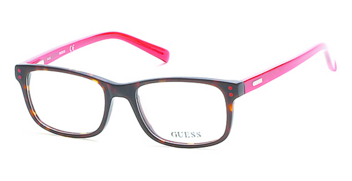 Guess GU 9161 Eyeglasses Dark Havana USA - GOOFASH - Mens SUNGLASSES