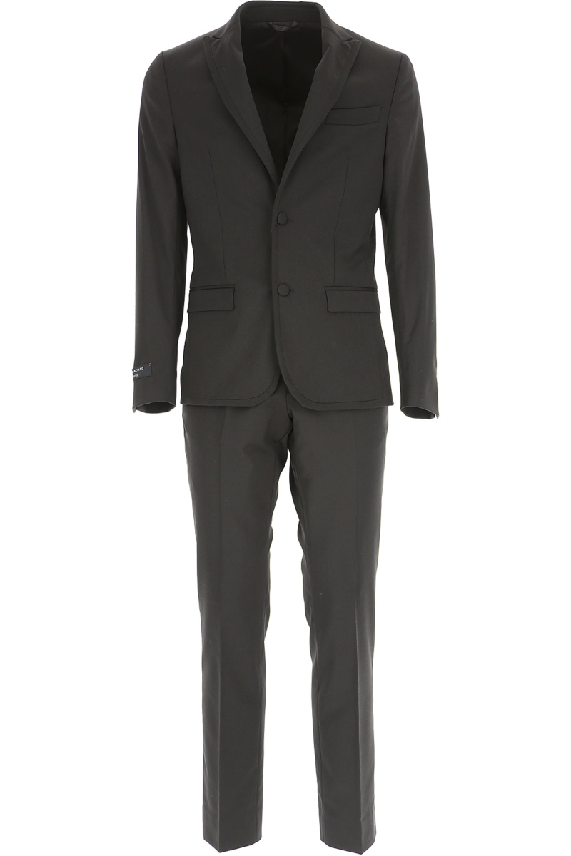Guess Men's Suit Black DK - GOOFASH - Mens SUITS