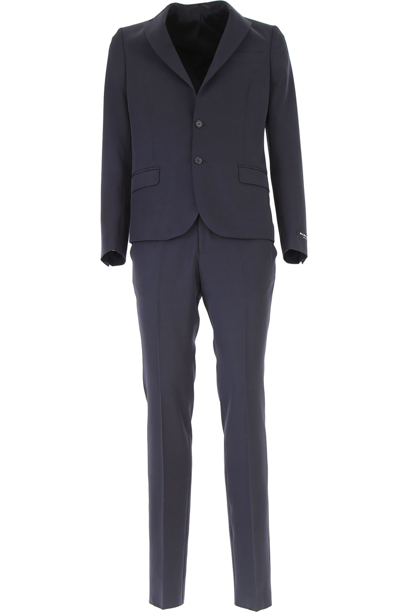 Guess Men's Suit On Sale Navy Blue DK - GOOFASH - Mens SUITS