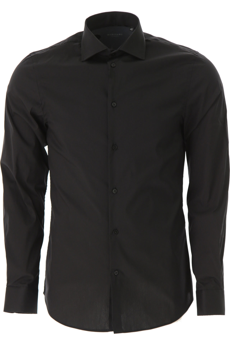 Guess Shirt for Men On Sale in Outlet Black DK - GOOFASH - Mens SHIRTS