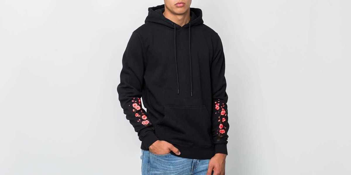 Hadrian Holtz The Rice Lady Hoodie Black/ Red USA - GOOFASH - Mens SWEATERS