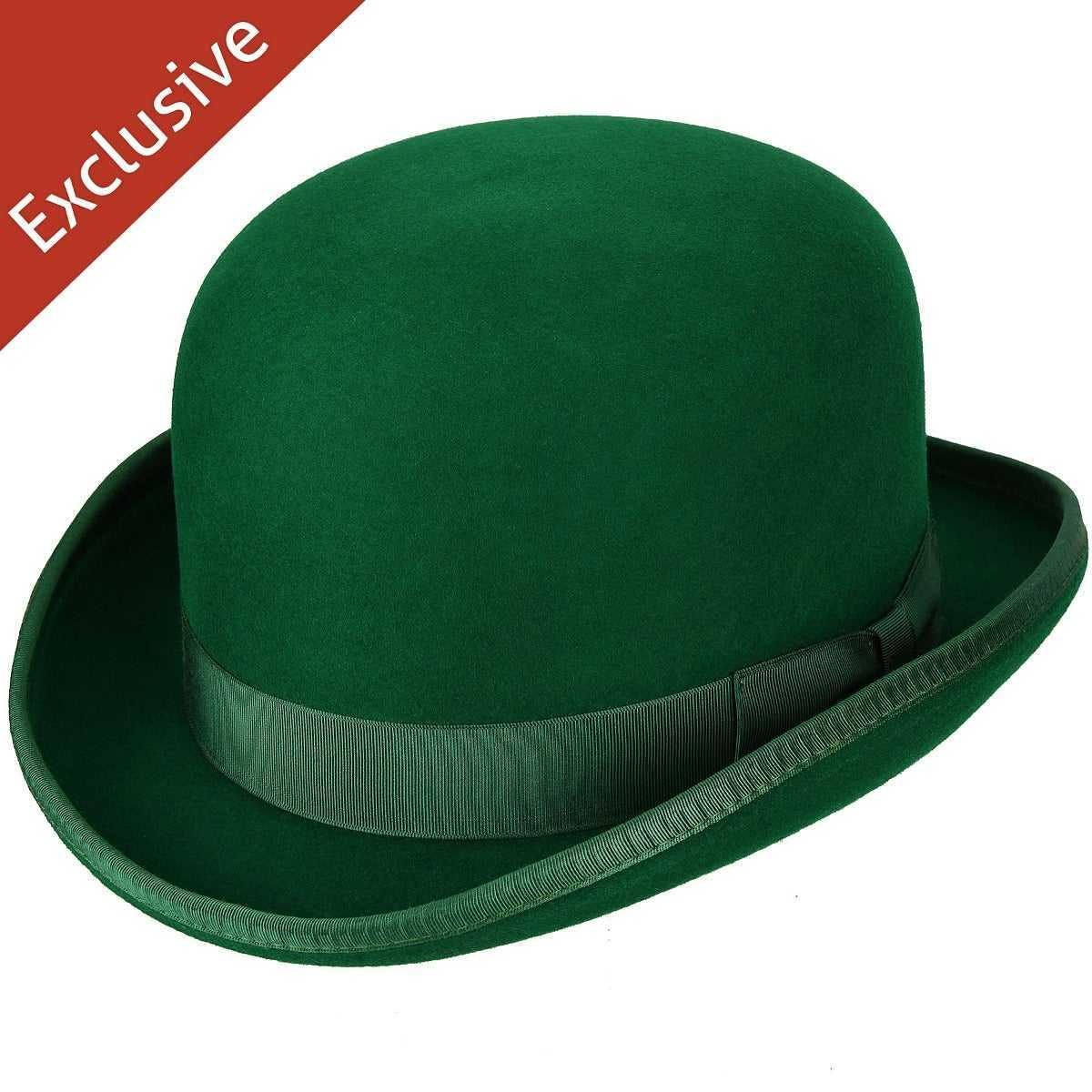 Hats.Com Steed Derby Hat - Exclusive Kelly Green USA - GOOFASH -