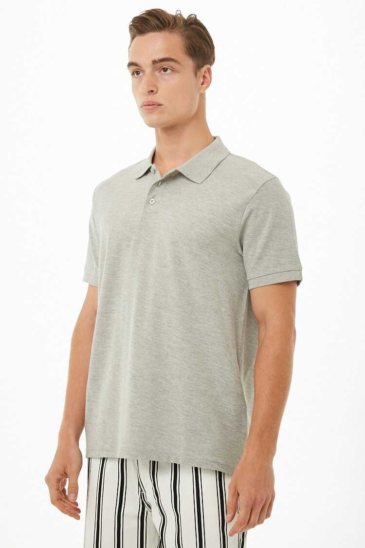 Heathered Polo Shirt at Forever 21