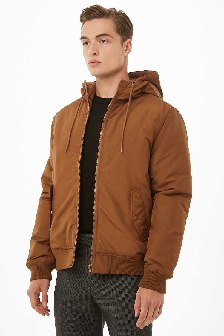 Heavyweight Zippered Jacket at Forever 21