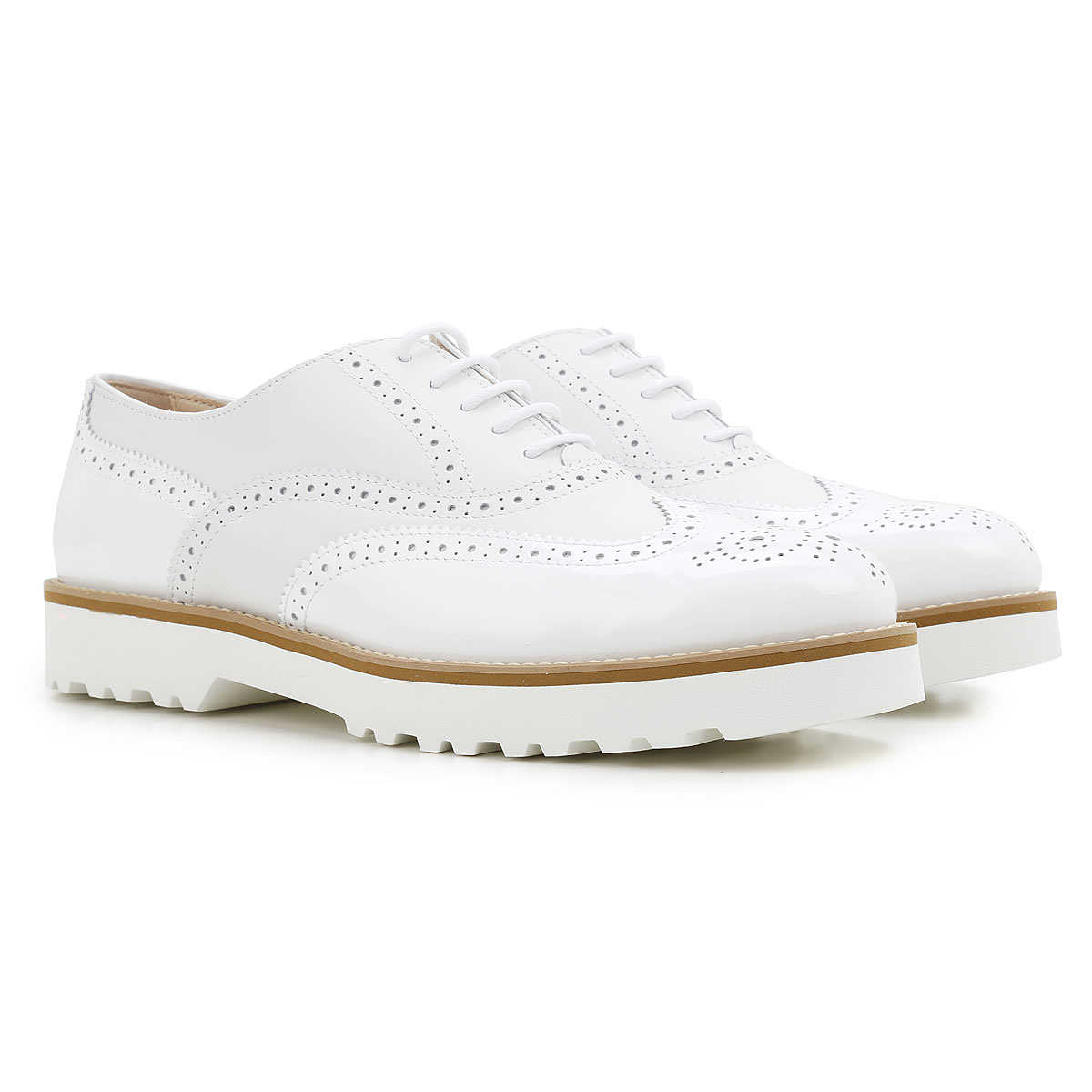 Hogan Brogues Oxford Shoes On Sale White DK - GOOFASH - Womens LEATHER SHOES