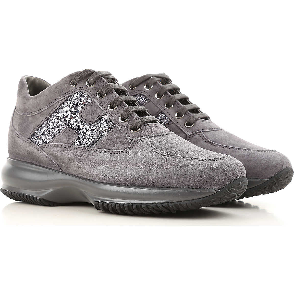 Hogan Sneakers for Women On Sale Anthracite DK - GOOFASH - Womens SNEAKER