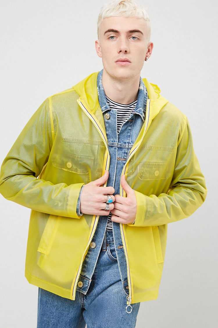 Hooded Zip-Front Raincoat at Forever 21