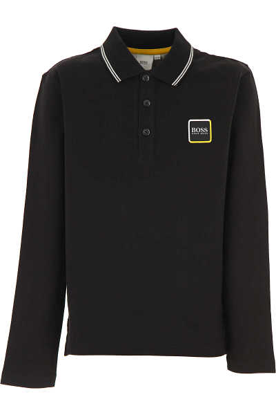 Hugo Boss Kids Polo Shirt for Boys Black DK - GOOFASH - Mens POLOSHIRTS