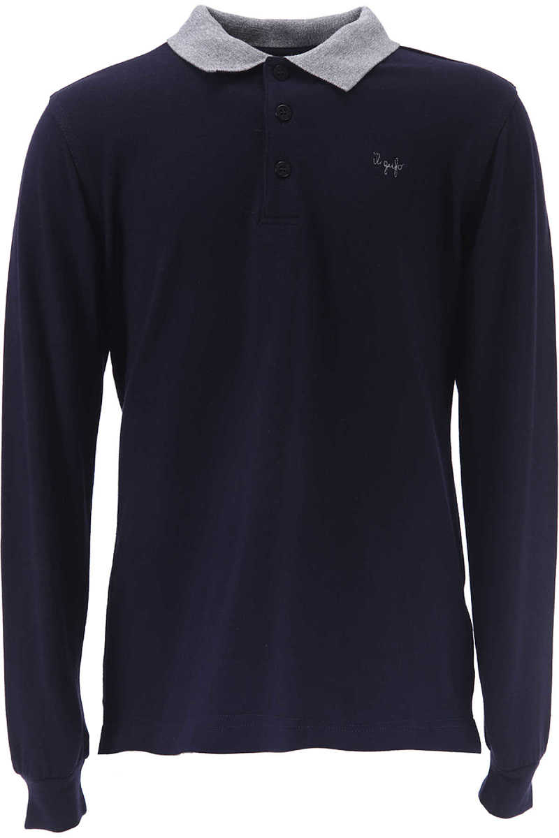Il Gufo Kids Polo Shirt for Boys On Sale in Outlet Blue DK - GOOFASH - Mens POLOSHIRTS