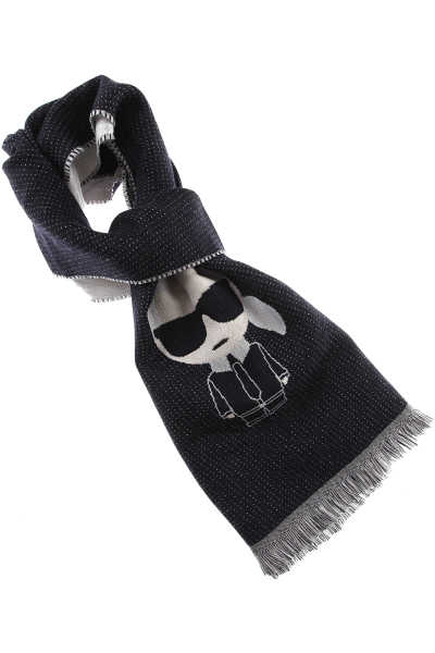 Karl Lagerfeld Scarf for Women On Sale Dark Blue DK - GOOFASH - Womens SCARFS