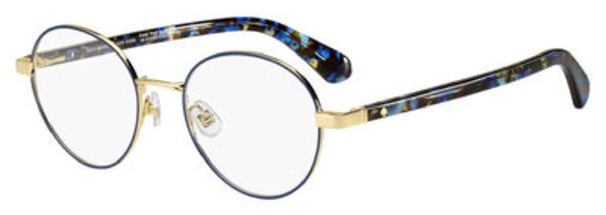 Kate Spade Marciann Eyeglasses Gold Blue USA - GOOFASH - Womens SUNGLASSES