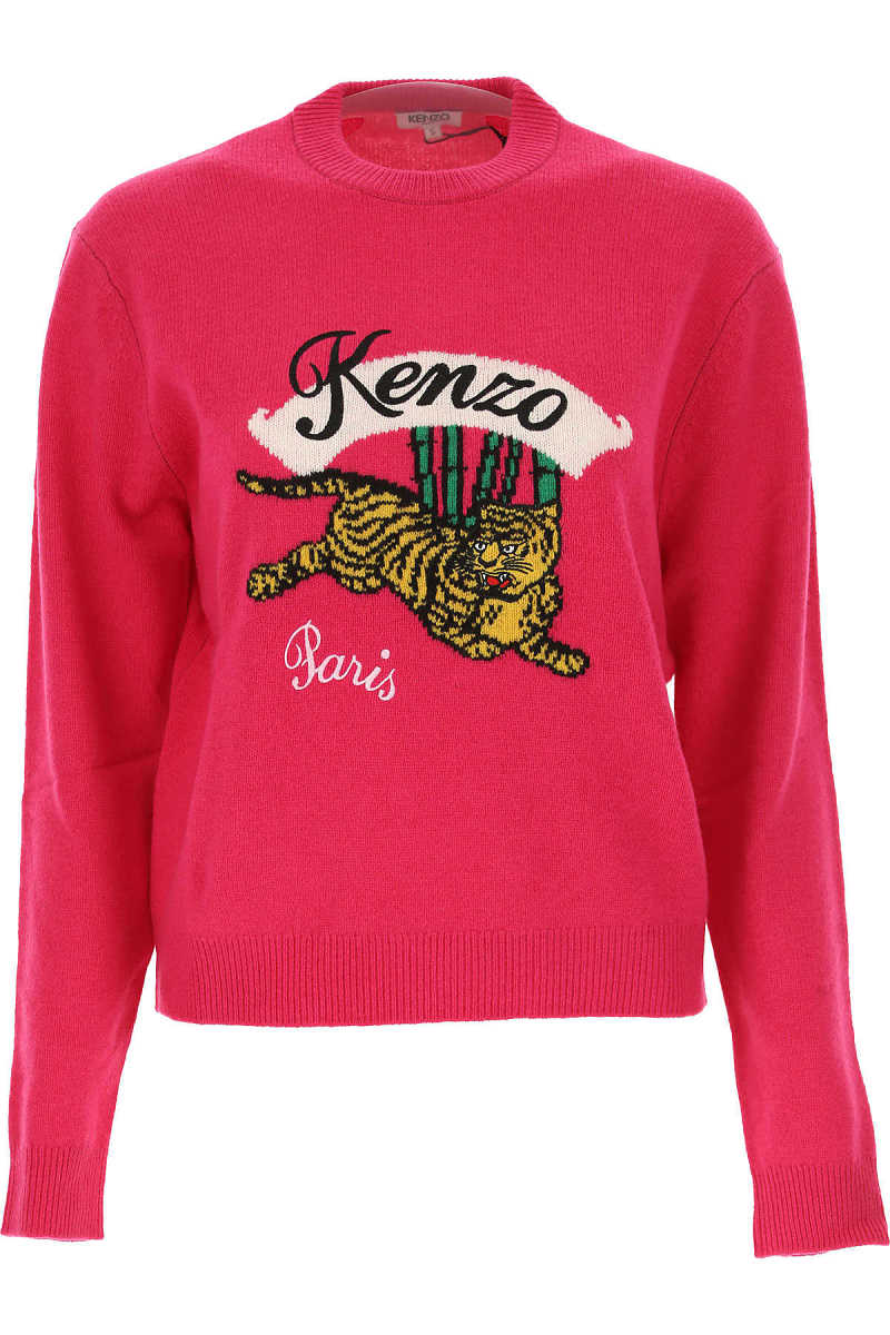 Kenzo Sweater for Women Jumper On Sale in Outlet fuxia DK - GOOFASH - Womens SWEATERS