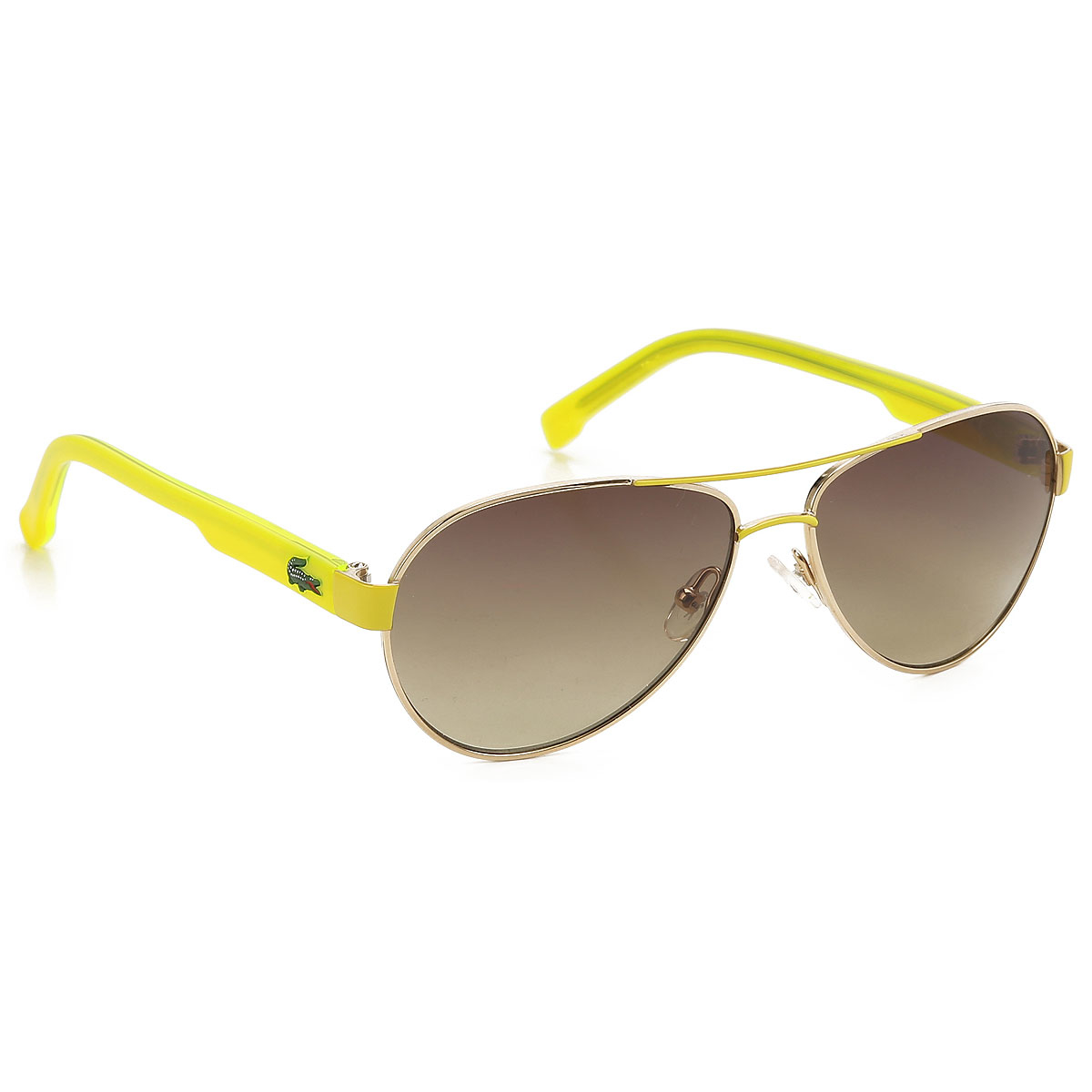 Lacoste Kids Sunglasses for Boys On Sale fluo yellow DK - GOOFASH - Mens SUNGLASSES