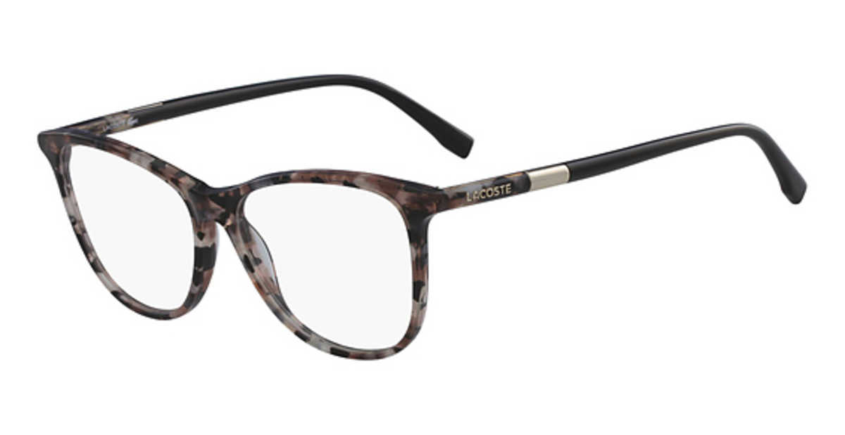 Lacoste L 2822 Eyeglasses (002) MARBLE BLACK ROSE USA - GOOFASH - Womens SUNGLASSES