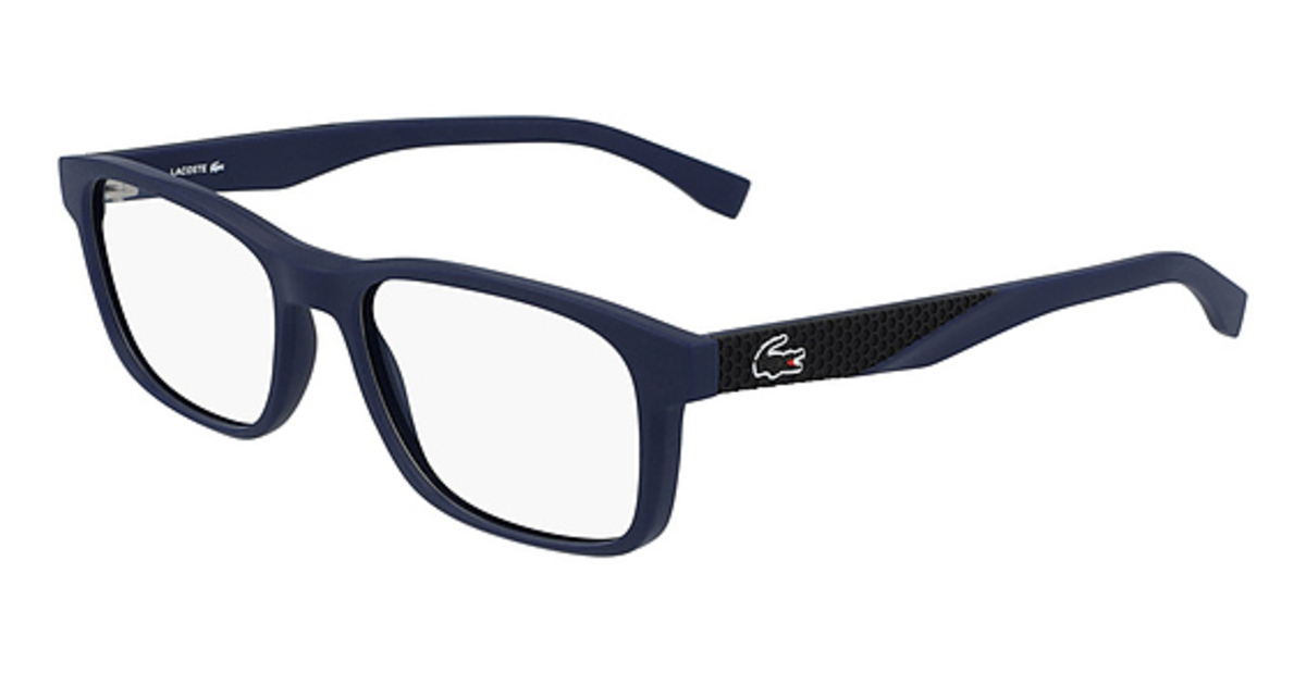 Lacoste L 2842 Eyeglasses (424) Blue Matte USA - GOOFASH - Mens SUNGLASSES