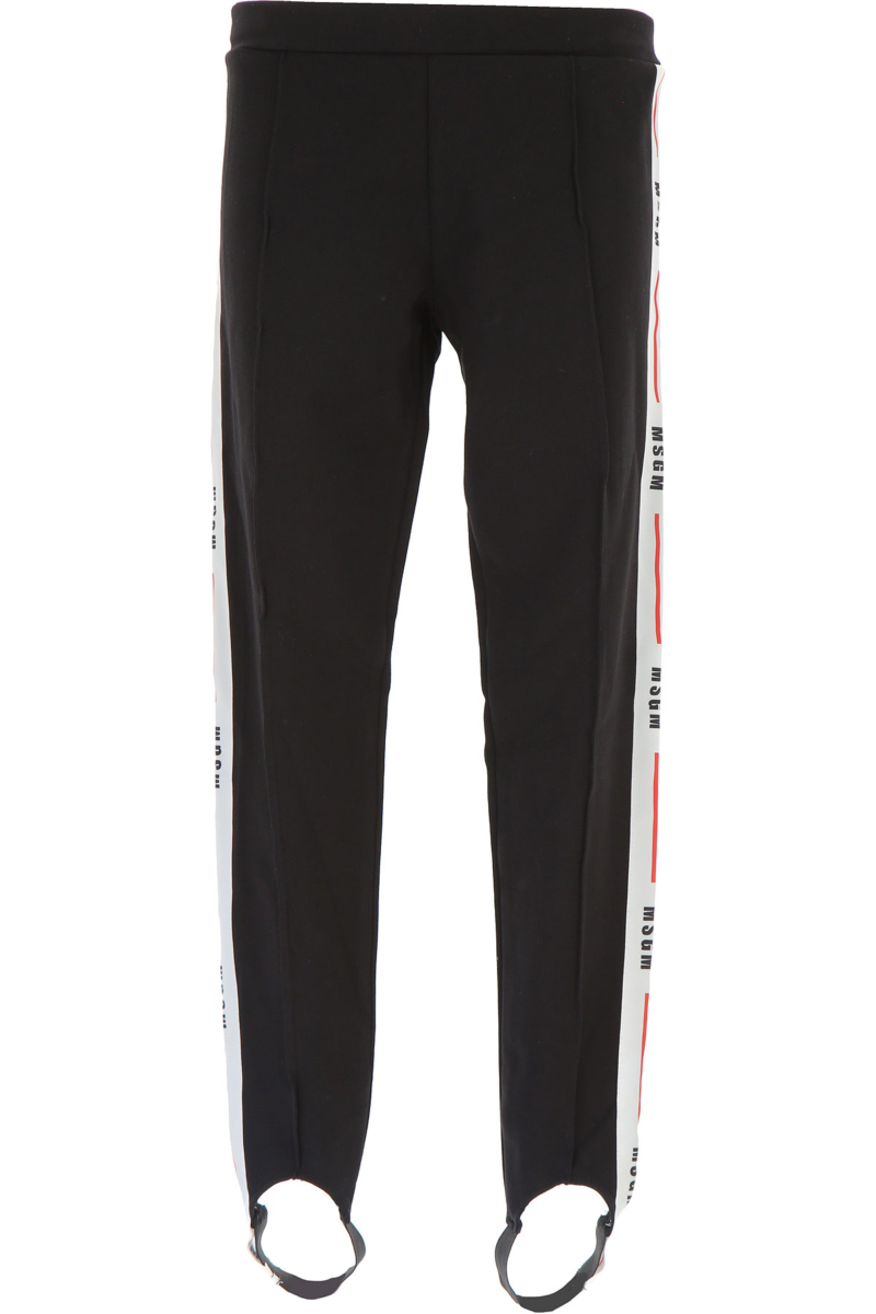 MSGM Kids Pants for Girls On Sale in Outlet Black DK - GOOFASH - Womens TROUSERS