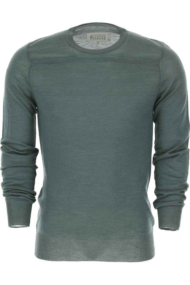 Maison Martin Margiela Sweater for Men Jumper On Sale in Outlet Green DK - GOOFASH - Mens SWEATERS