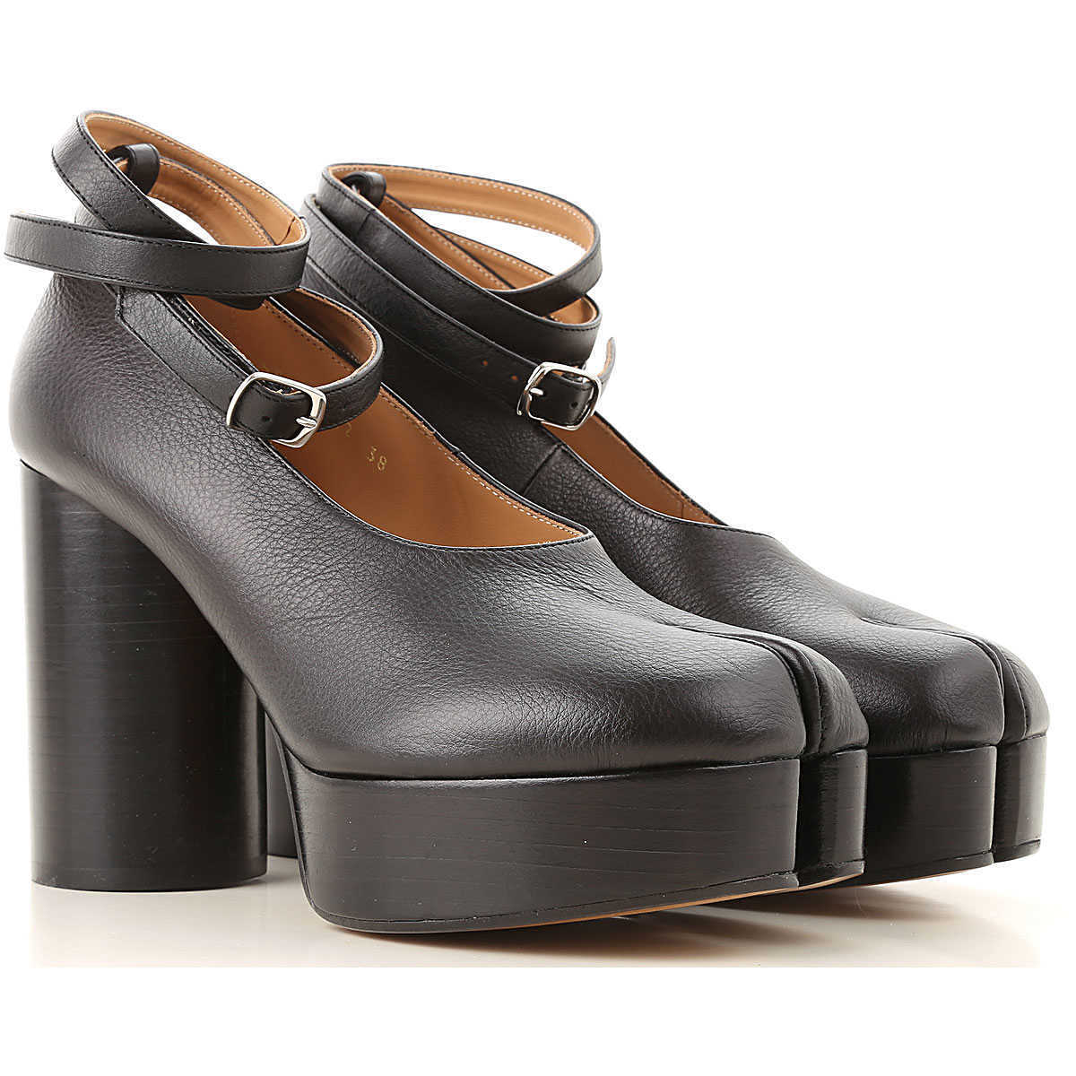 Maison Martin Margiela Wedges for Women On Sale Black DK - GOOFASH - Womens HOUSE SHOES