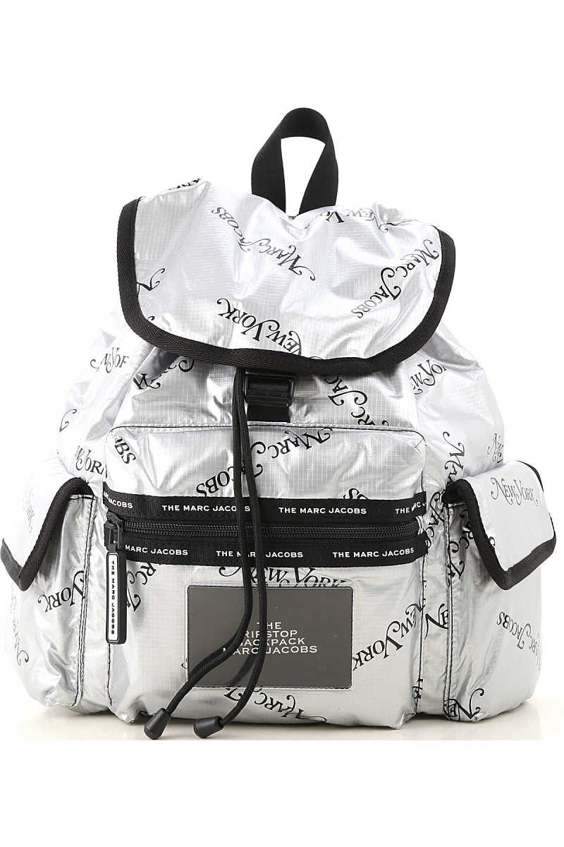 Marc Jacobs Backpack for Women Silver DK - GOOFASH - Womens BAGS