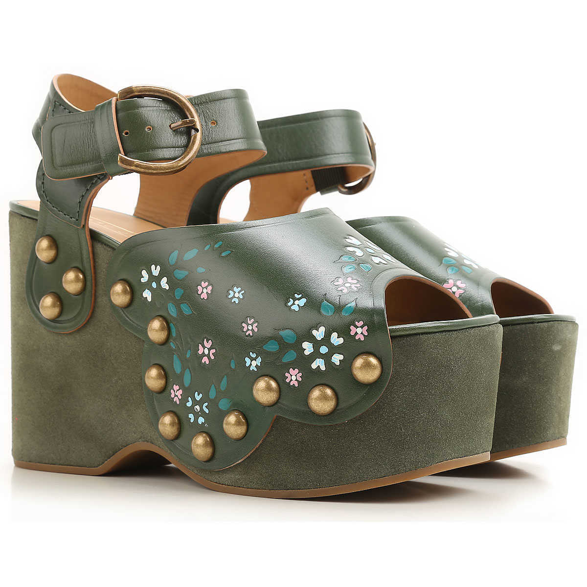 Marc Jacobs Wedges for Women On Sale Green DK - GOOFASH - Womens HOUSE SHOES