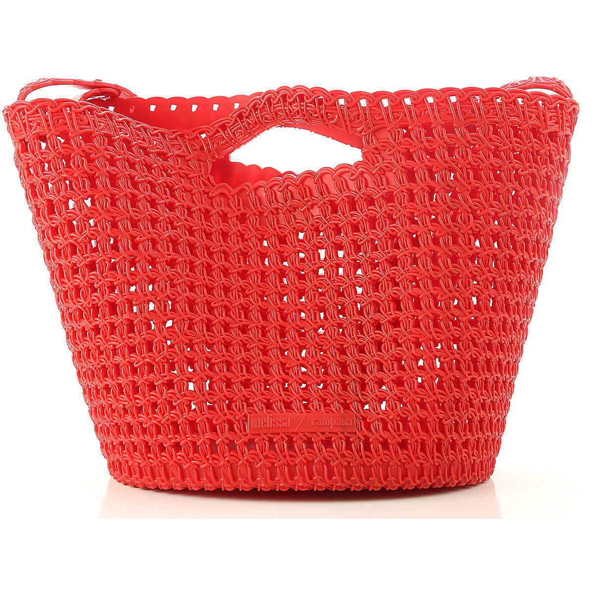 Melissa Tote Bag On Sale Red DK - GOOFASH - Womens BAGS