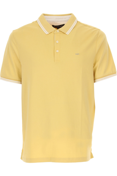 Michael Kors Polo Shirt for Men On Sale in Outlet Light Yellow DK - GOOFASH - Mens POLOSHIRTS