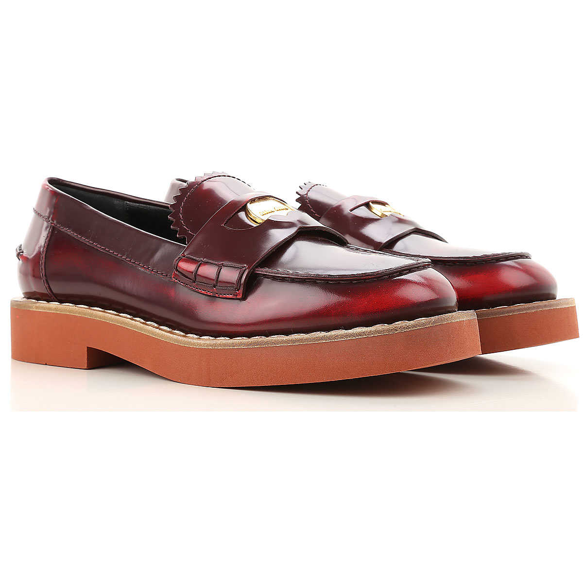 Miu Miu Loafers for Women On Sale in Outlet Red Scarlet DK - GOOFASH - Womens FLAT SHOES