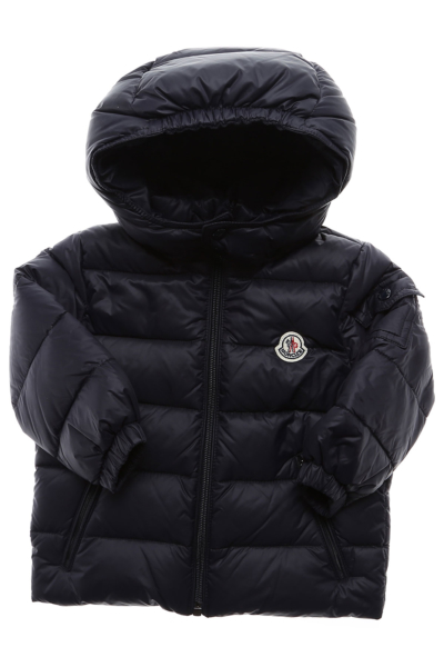 Moncler Baby Down Jacket for Boys Blue DK - GOOFASH - Mens JACKETS