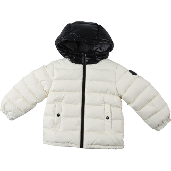 Moncler Baby Down Jacket for Boys White DK - GOOFASH - Mens JACKETS