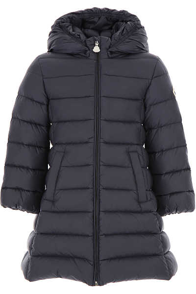 Moncler Baby Down Jacket for Girls Navy Blue DK - GOOFASH - Womens JACKETS
