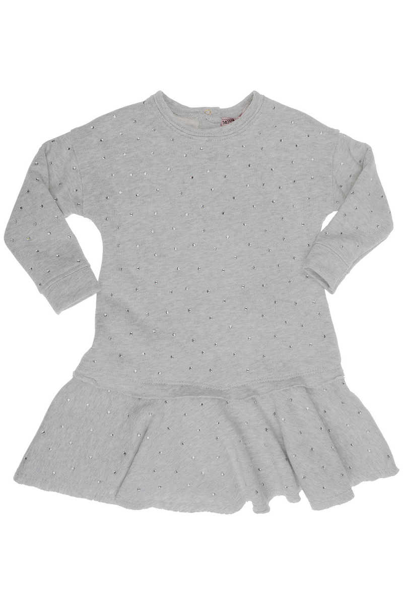 Monnalisa Baby Dress for Girls On Sale in Outlet Grey DK - GOOFASH - Womens DRESSES
