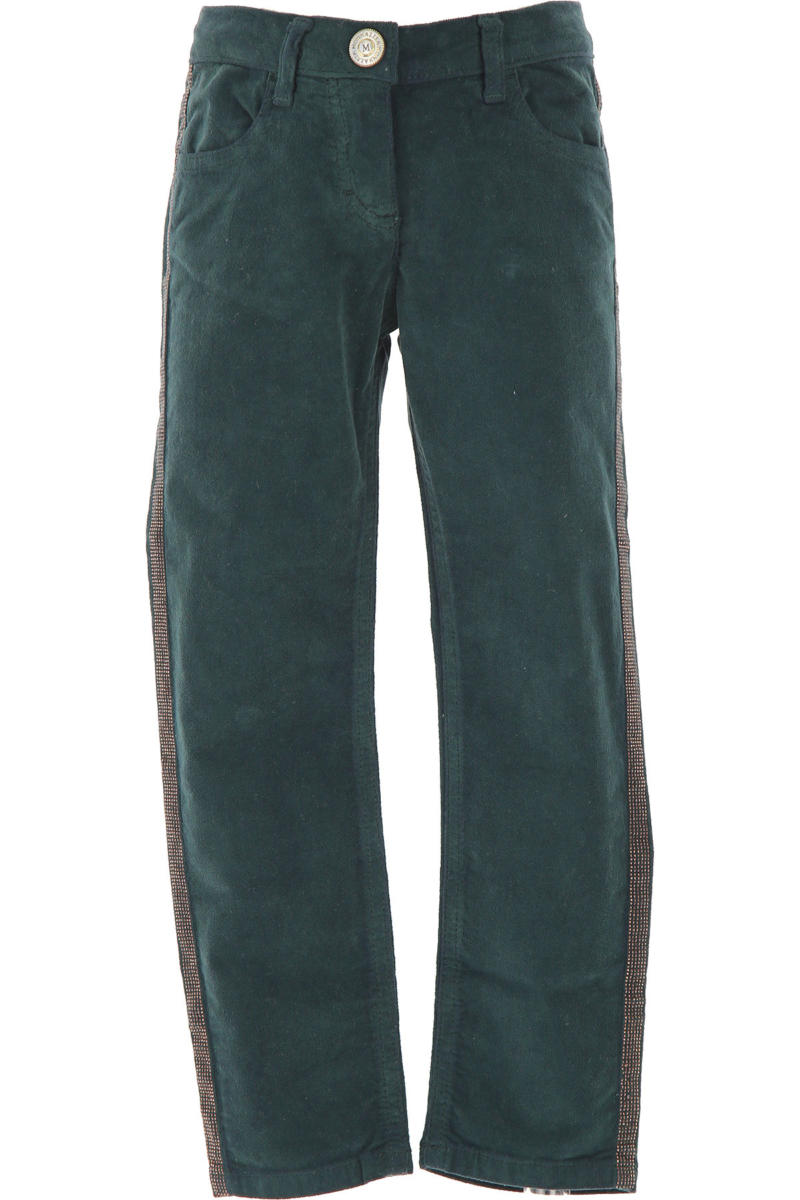 Monnalisa Kids Pants for Girls On Sale in Outlet Green DK - GOOFASH - Womens TROUSERS