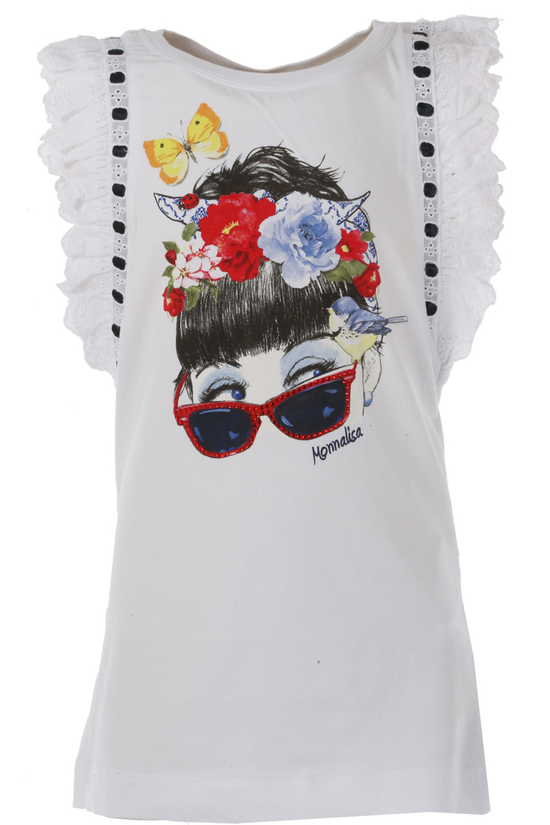 Monnalisa Kids T-Shirt for Girls On Sale in Outlet White DK - GOOFASH - Womens T-SHIRTS