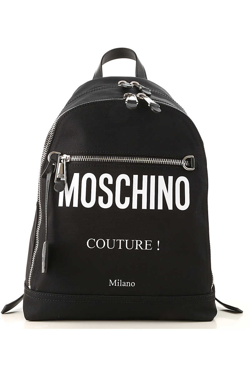 Moschino Backpack for Men On Sale Black DK - GOOFASH - Mens BAGS