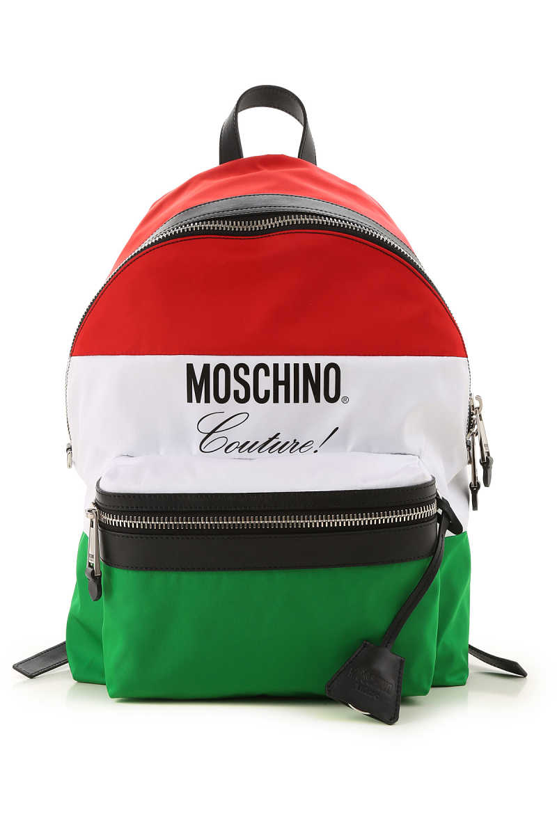 Moschino Backpack for Men On Sale White DK - GOOFASH - Mens BAGS