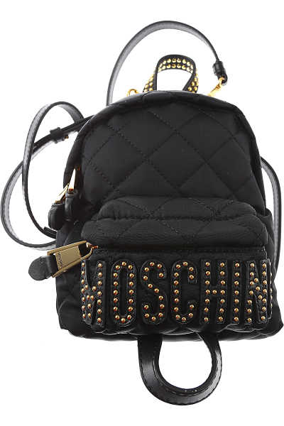 Moschino Backpack for Women On Sale Black DK - GOOFASH - Womens BAGS