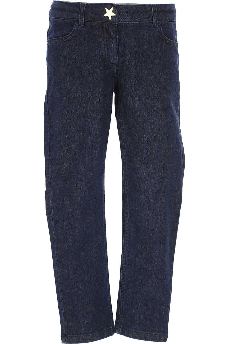 Moschino Kids Jeans for Boys On Sale in Outlet Blue DK - GOOFASH - Mens JEANS