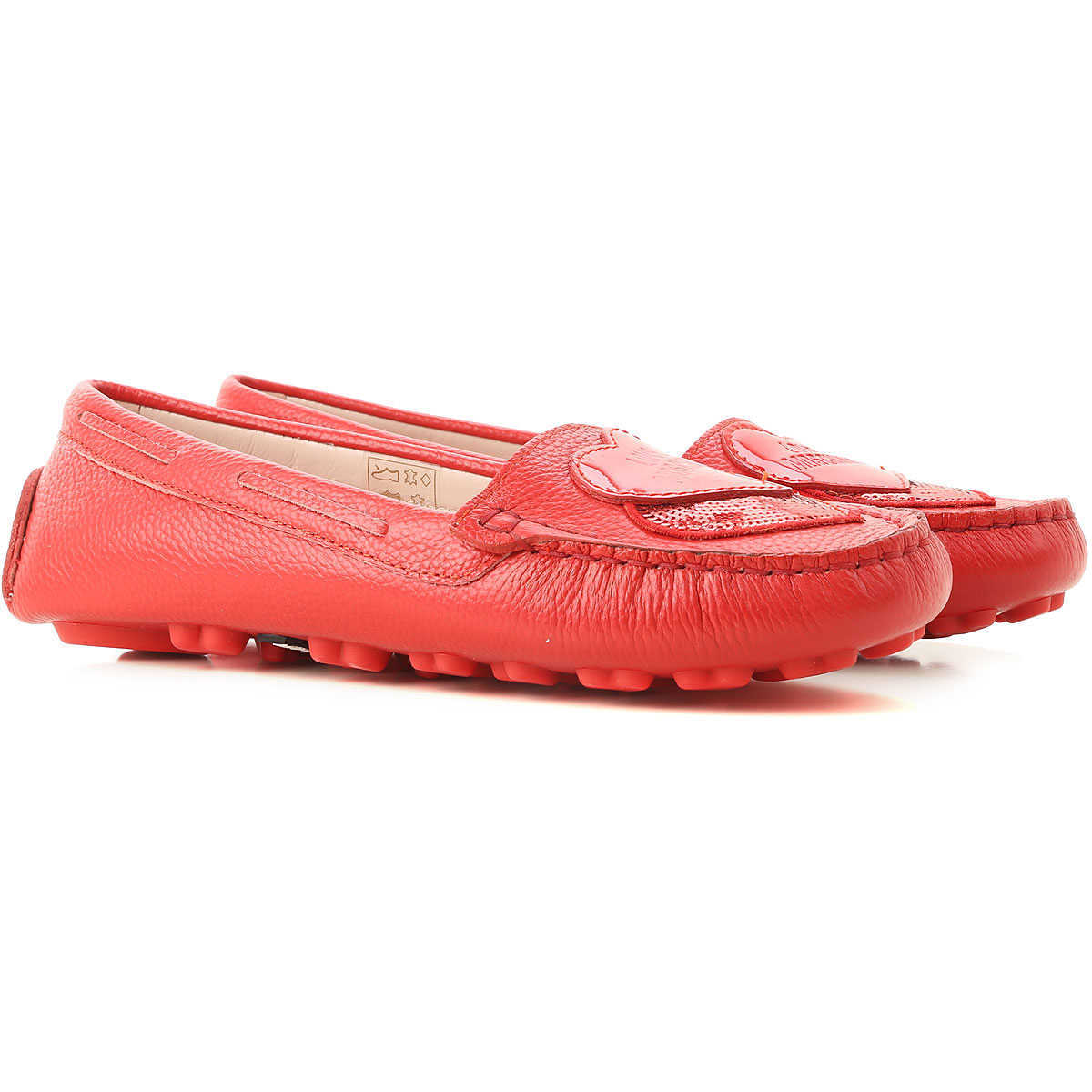 Moschino Loafers for Women On Sale Red DK - GOOFASH - Womens FLAT SHOES