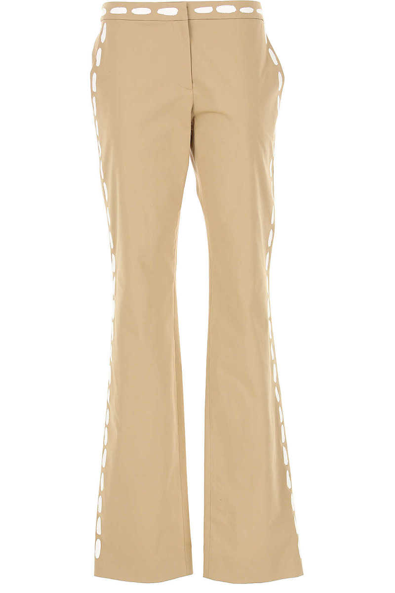 Moschino Pants for Women On Sale Beige DK - GOOFASH - Womens TROUSERS