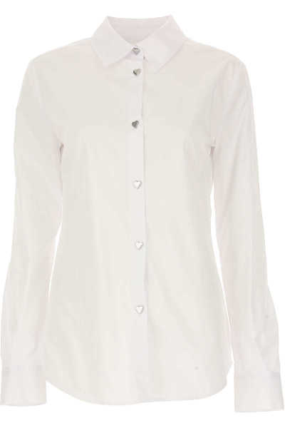 Moschino Shirt for Women On Sale in Outlet White DK - GOOFASH - Womens SHIRTS
