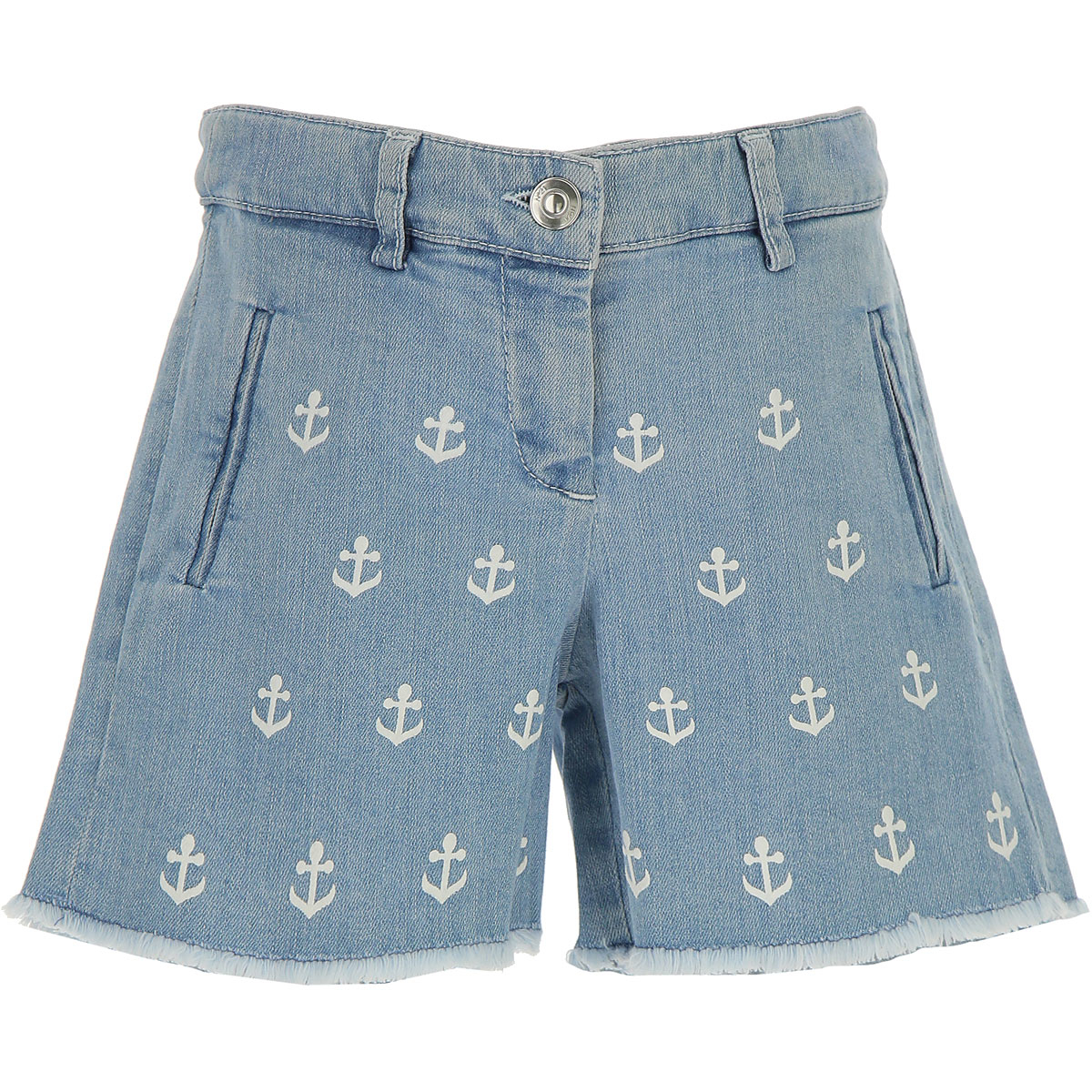 NO 21 Kids Shorts for Girls On Sale in Outlet Blue Denim DK - GOOFASH - Womens SHORTS
