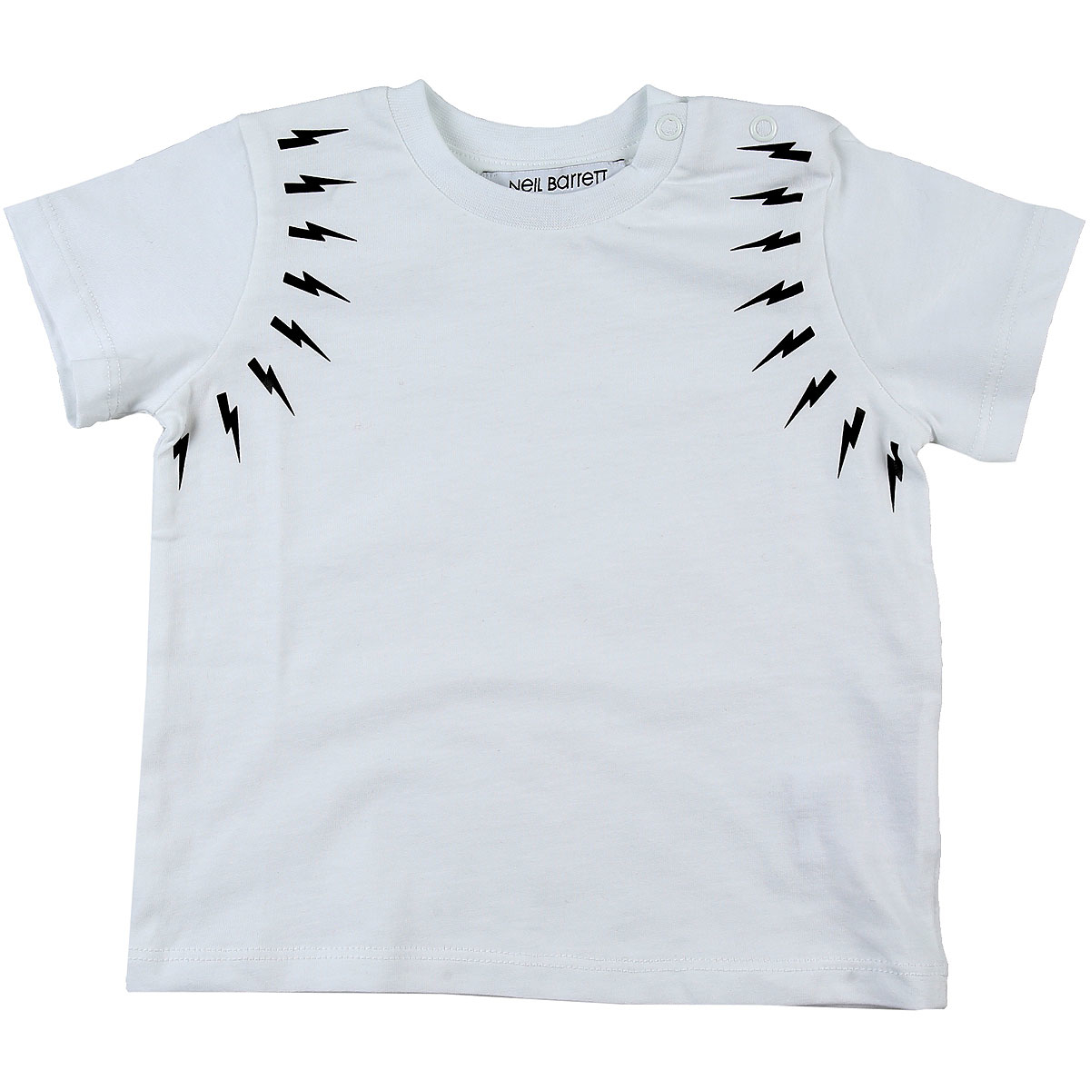 Neil Barrett Baby T-Shirt for Boys On Sale White DK - GOOFASH - Mens T-SHIRTS