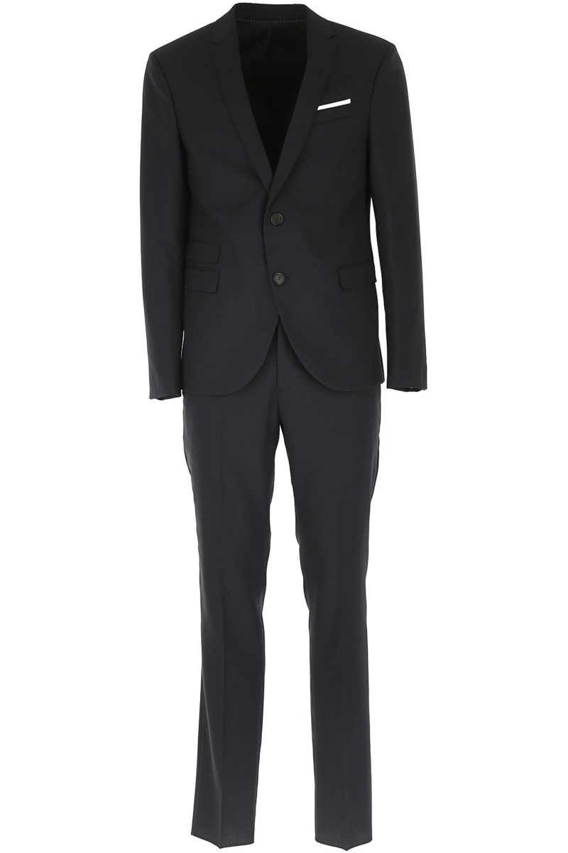 Neil Barrett Men's Suit On Sale in Outlet Blue DK - GOOFASH - Mens SUITS