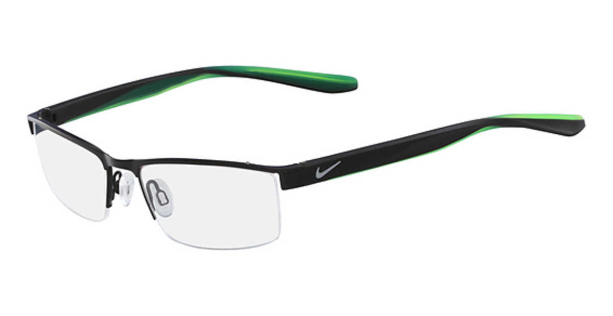 Nike NIKE 8173 Eyeglasses (011) Black USA - GOOFASH - Mens SUNGLASSES