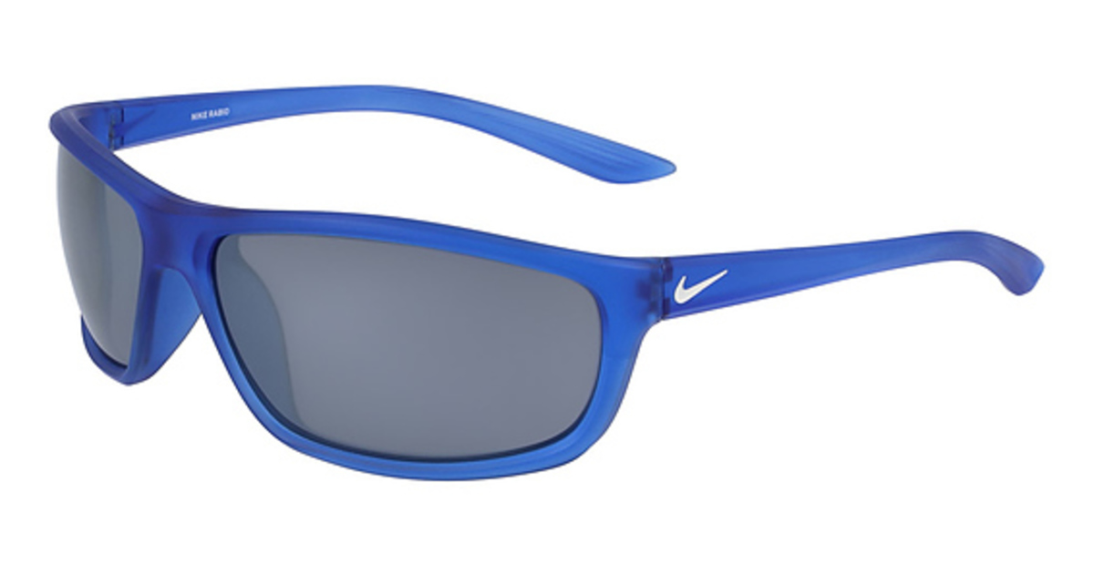 Nike NIKE RABID EV 1109 Sunglasses (330) MT GAME ROYAL/WHT/GRY W SIL FL USA - GOOFASH - Mens SUNGLASSES