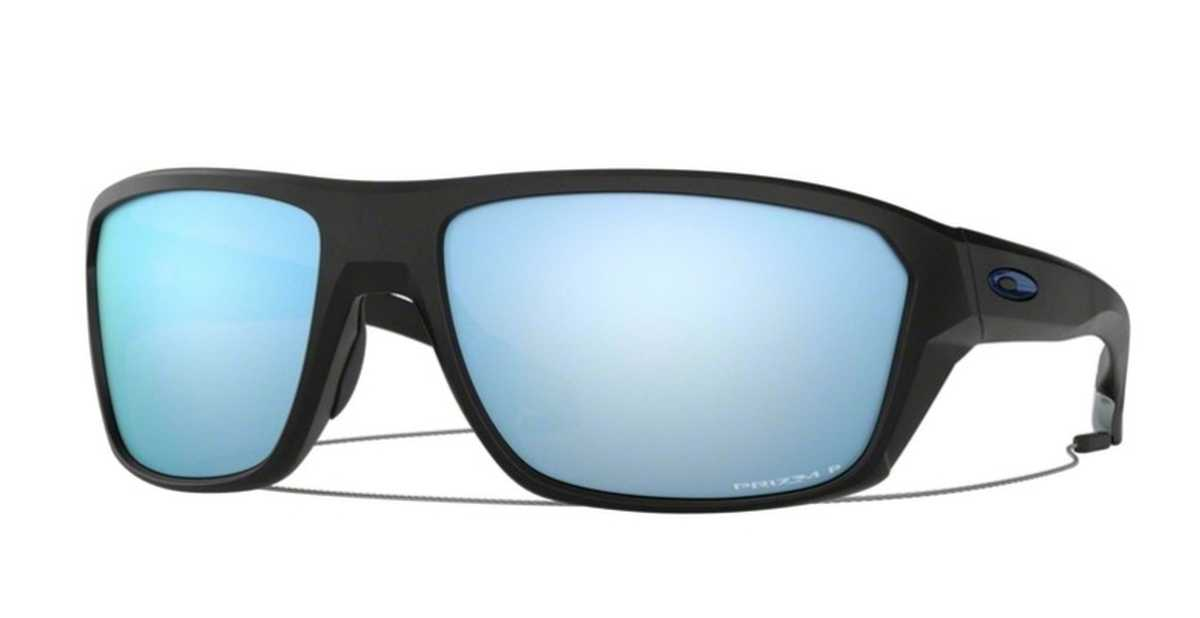 Oakley Split Shot OO 9416 Sunglasses Matte Black with Prizm Deep H20 Polarized Lenses USA - GOOFASH - Mens SUNGLASSES