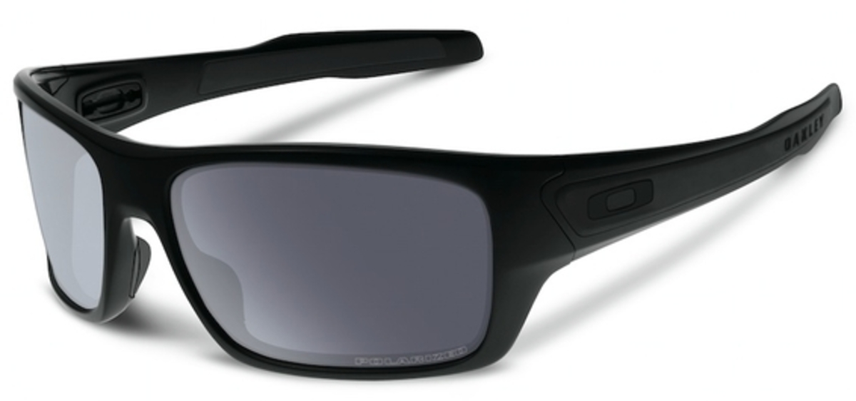 Oakley Turbine OO 9263 Sunglasses 07 Matte Black / Grey Polar USA - GOOFASH - Mens SUNGLASSES